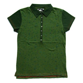 <img class='new_mark_img1' src='//img.shop-pro.jp/img/new/icons24.gif' style='border:none;display:inline;margin:0px;padding:0px;width:auto;' />ATTICUS CLOTHING - DYAN GREEN GIRLS POLO SHIRT
