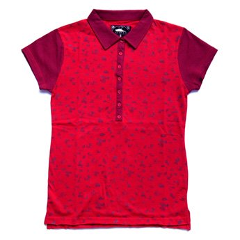 <img class='new_mark_img1' src='//img.shop-pro.jp/img/new/icons24.gif' style='border:none;display:inline;margin:0px;padding:0px;width:auto;' />ATTICUS CLOTHING - DYAN RED GIRLS POLO SHIRT