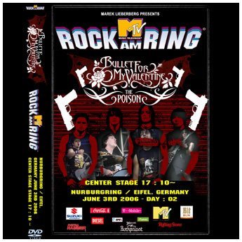 <img class='new_mark_img1' src='//img.shop-pro.jp/img/new/icons24.gif' style='border:none;display:inline;margin:0px;padding:0px;width:auto;' />BULLET FOR MY VALENTINE - ROCK AM RING FESTIVAL GERMANY JUNE 3RD 2006 DVD