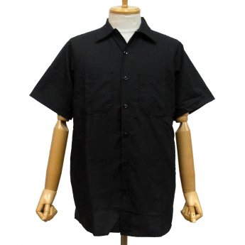 <img class='new_mark_img1' src='https://img.shop-pro.jp/img/new/icons31.gif' style='border:none;display:inline;margin:0px;padding:0px;width:auto;' />RED KAP PLAIN SHORT SLEEVED WORKSHIRT - BLACK
