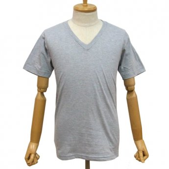 <img class='new_mark_img1' src='//img.shop-pro.jp/img/new/icons31.gif' style='border:none;display:inline;margin:0px;padding:0px;width:auto;' />PLAIN V-NECK SHORT SLEEVED T-SHIRT - HEATHER GREY