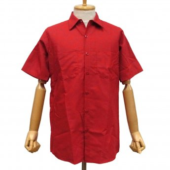 <img class='new_mark_img1' src='//img.shop-pro.jp/img/new/icons31.gif' style='border:none;display:inline;margin:0px;padding:0px;width:auto;' />RED KAP PLAIN SHORT SLEEVED WORKSHIRT - RED