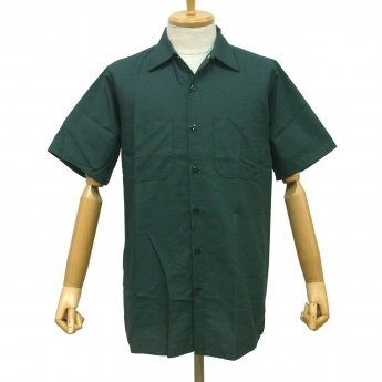 <img class='new_mark_img1' src='//img.shop-pro.jp/img/new/icons31.gif' style='border:none;display:inline;margin:0px;padding:0px;width:auto;' />RED KAP PLAIN SHORT SLEEVED WORKSHIRT - SPRUCE GREEN