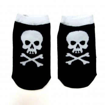 KIDS ANKLE SOCKS - SKULL BLACK&WHITE