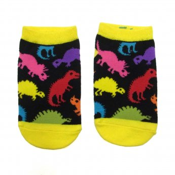 KIDS ANKLE SOCKS - DINO MULTI