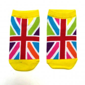 KIDS ANKLE SOCKS - UK FLAG CRAZY
