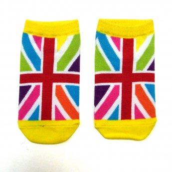 KIDS ANKLE SOCKS - UK FLAG CRAZY
