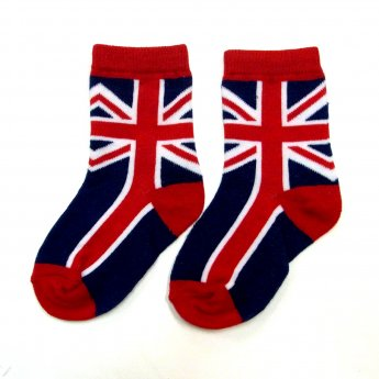 KIDS CREW SOCKS - UK FLAG