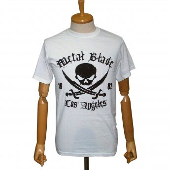 METAL BLADE RECORDS - BLACK PIRATE LOGO ON WHITE