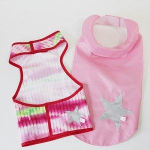ピンク・女の子用・コーギーレインコート&泥よけエプロン