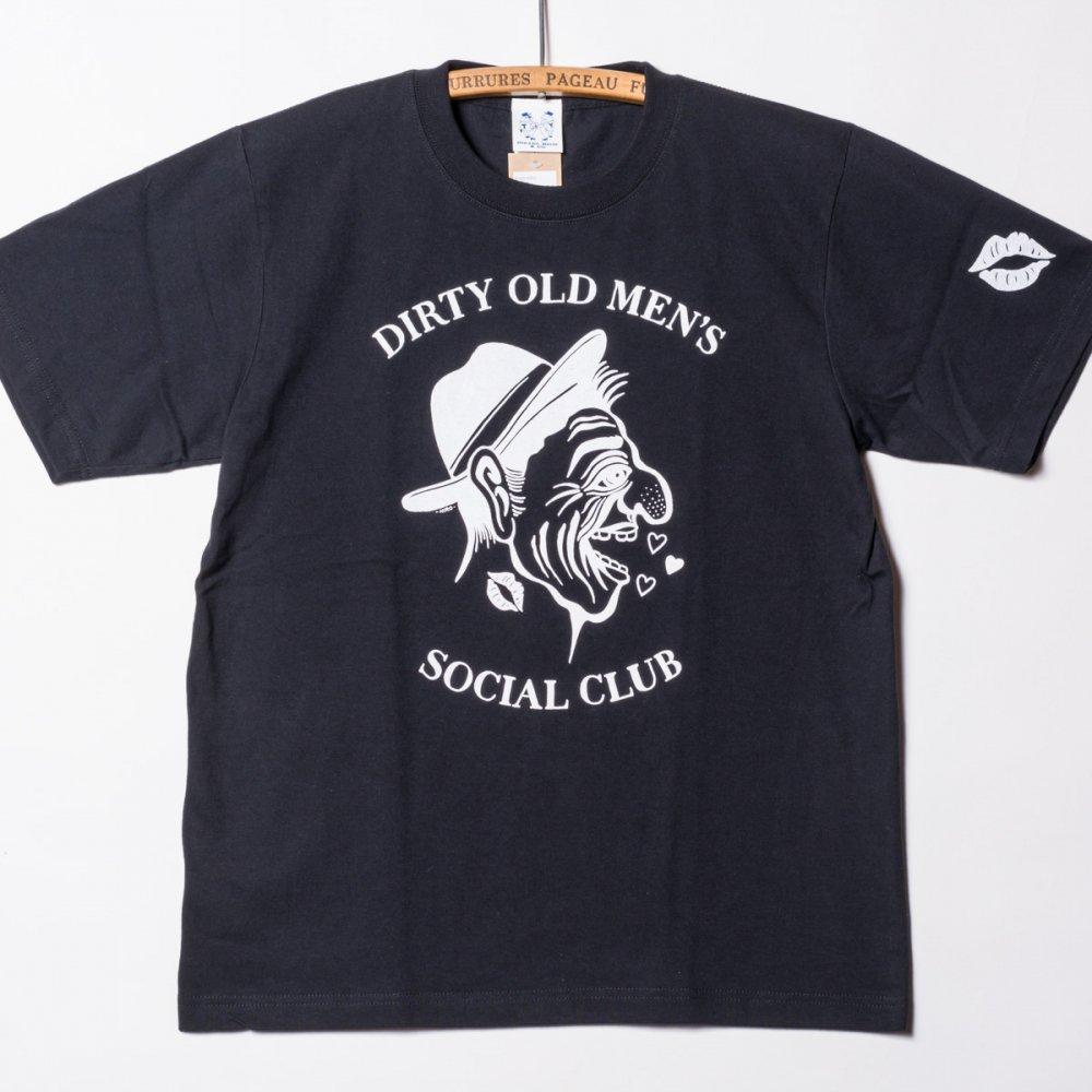 """6.2oz T-shirts """"DIRTY OLD MEN'S SOCIAL CLUB"""" BK"""