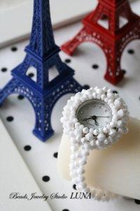 スワロフスキー時計 ホワイト