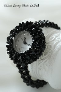 スワロフスキー時計 ブラック