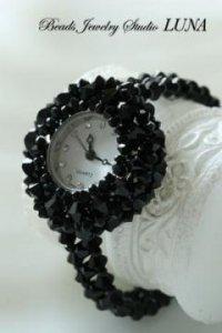 スワロフスキー時計 ブラック(KIT)