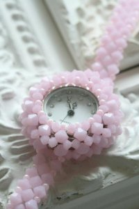 Beads Watch (ピンク)