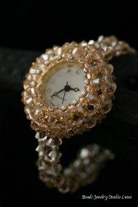 スワロフスキー時計 ゴールド