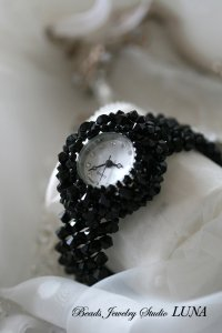 スワロフスキー時計バングル ブラック2種(KIT)