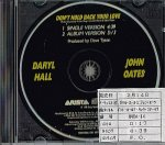 DARYL HALL & JOHN OATES/DON'T HOLD BACK YOUR LOVE