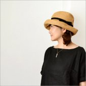 mature ha. [マチュアーハ] BOXED HAT 11cm brim grosgrain ribbon