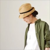mature ha. [マチュアーハ] BOXED HAT 7cm brim grosgrain ribbon