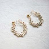 Fil et bijou [フィルエビジュー] Mizukusa銀糸ループスイングイヤリングS
