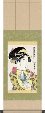 掛け軸-道成寺/喜多川歌麿(浮世絵-美人画)掛軸