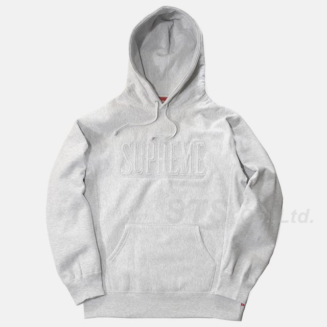 Supreme - Embroidered Outline Hooded Sweatshirt