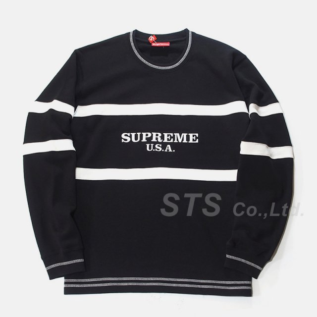 Supreme - Center Stripe Crewneck