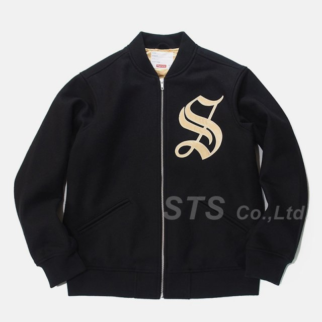 Supreme - Old English Zip Varsity Jacket