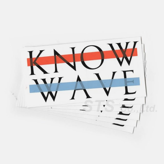 Know Wave - Logo Sticker