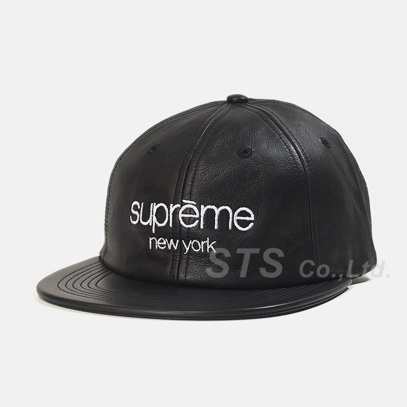 Supreme - Leather Classic Logo 6-Panel