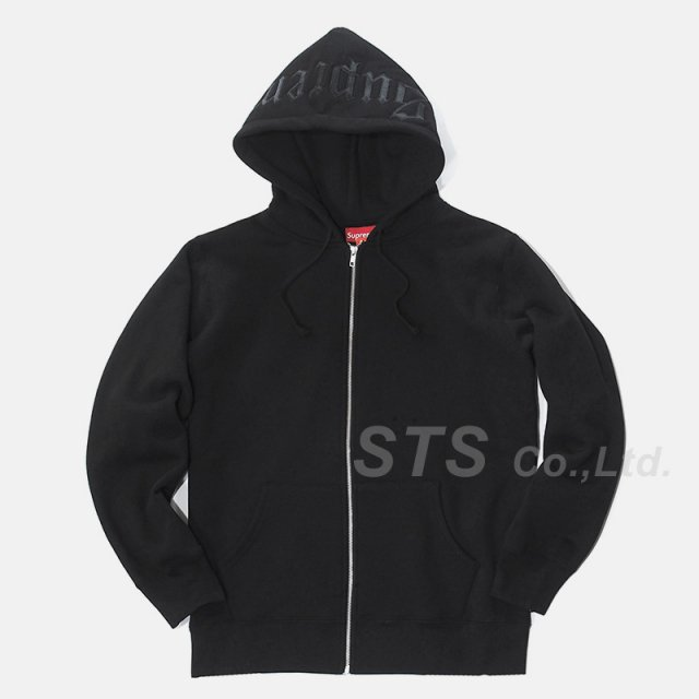 Supreme - Old English Hood Logo Zip Up Sweat