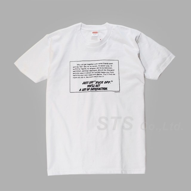 Supreme - Say No Tee