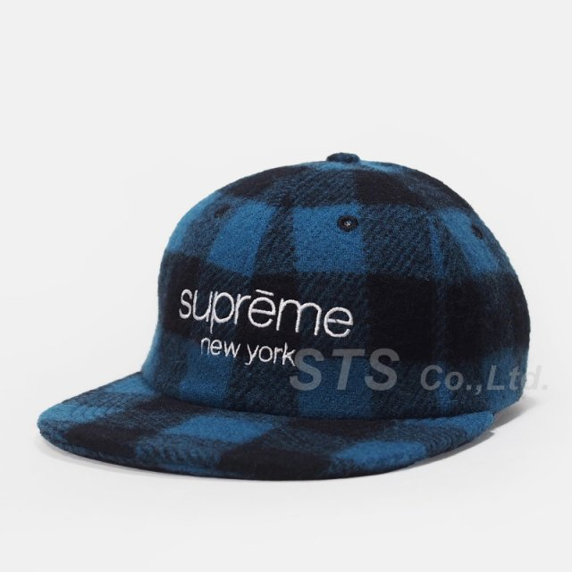 Supreme - Buffalo Plaid Wool Classic Logo 6-Panel