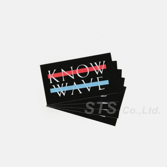 Know Wave - Mini Logo Sticker