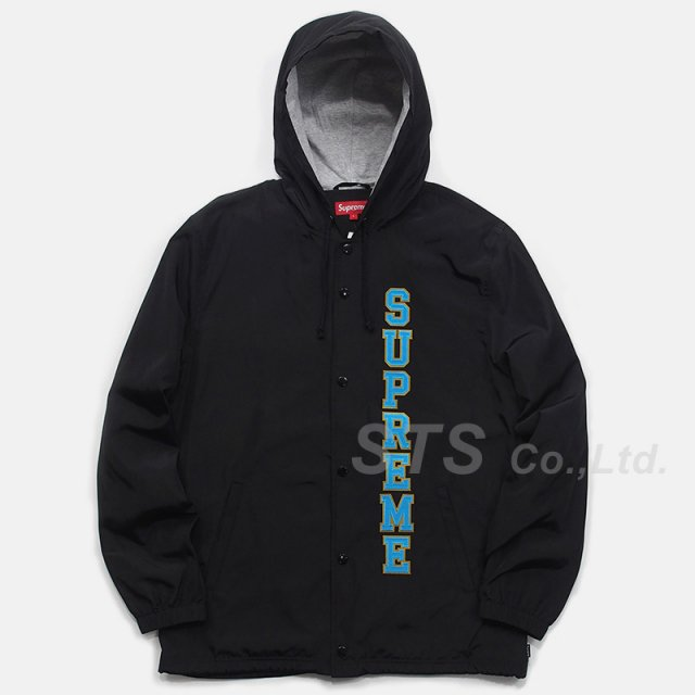 Supreme - Vertical Logo Hooded Coaches Jacket