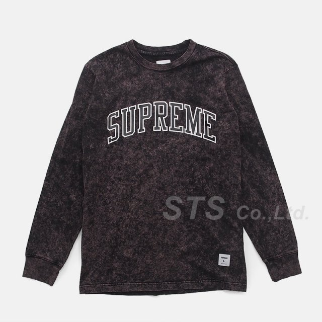 Supreme - Acid Wash Arc Logo L/S Tee