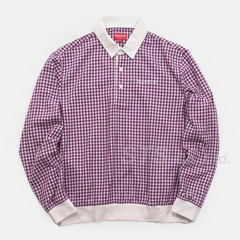 Supreme - Gingham L/S Polo