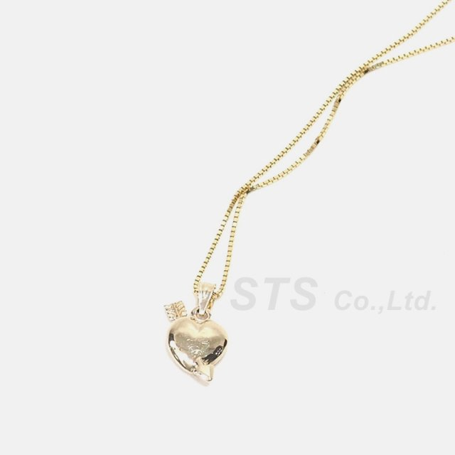 Supreme - Gold Heart and Arrow Pendant