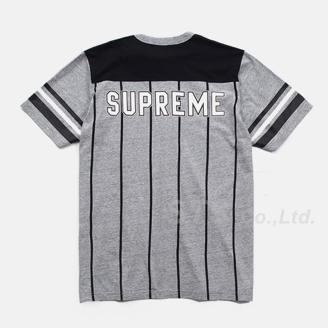 Supreme - Pinstripe S/S Football Top