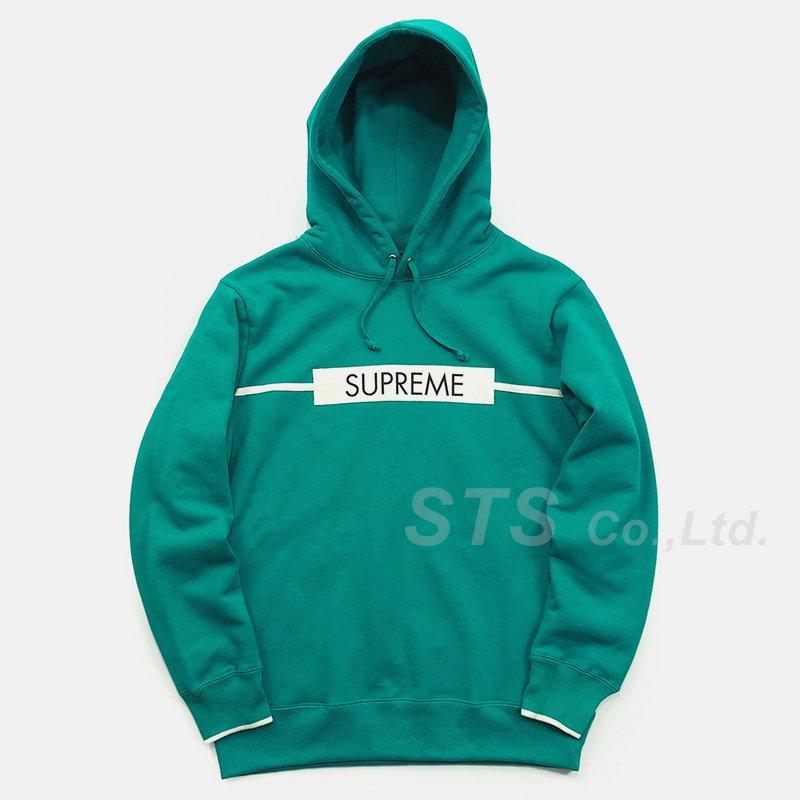 Supreme - Chest Twill Tape Hooded Sweatshirt