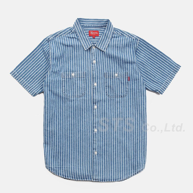 Supreme - Stripe Denim S/S Shirt