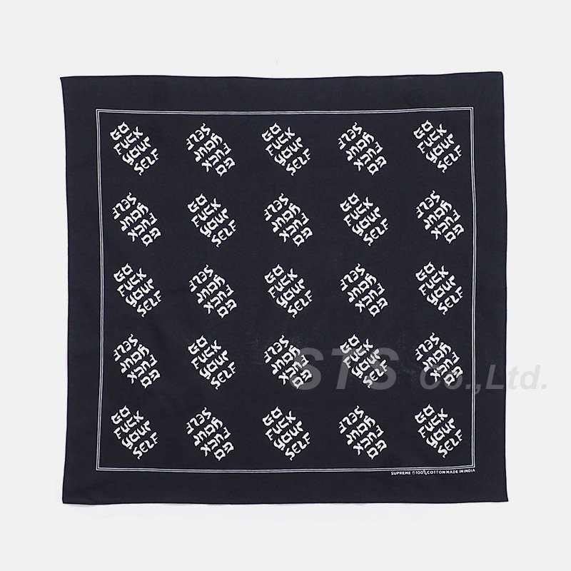 【SALE】Supreme - Go Fuck Yourself Bandana
