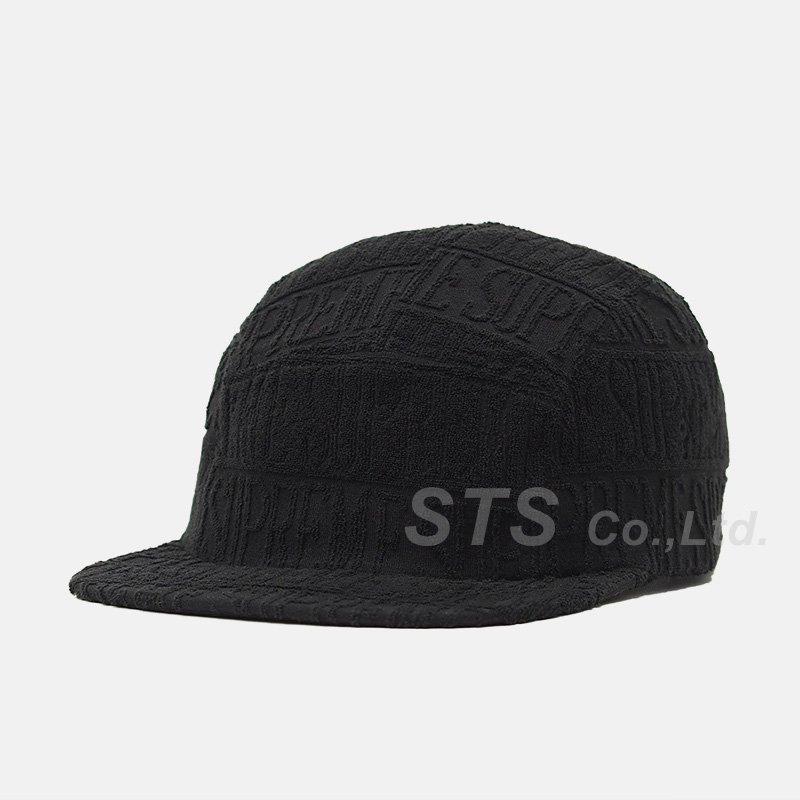 Supreme - Text Stripe Terry Camp Cap