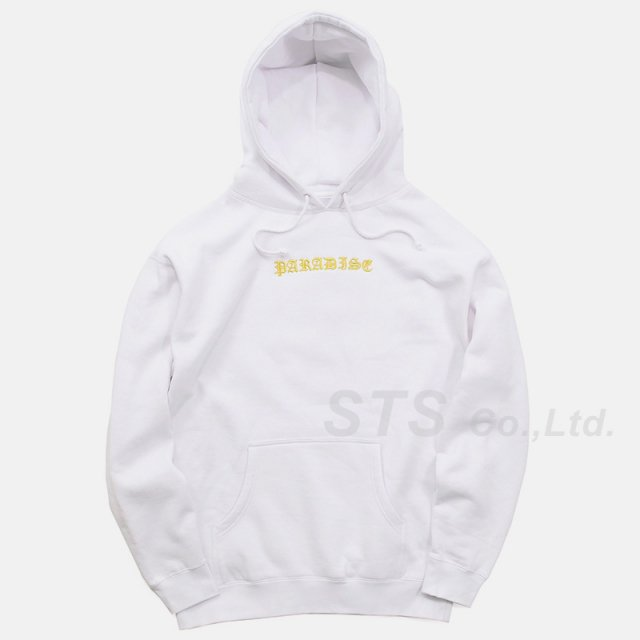 Paradis3 - Skull Hood Gold-Embroidered Hoodie