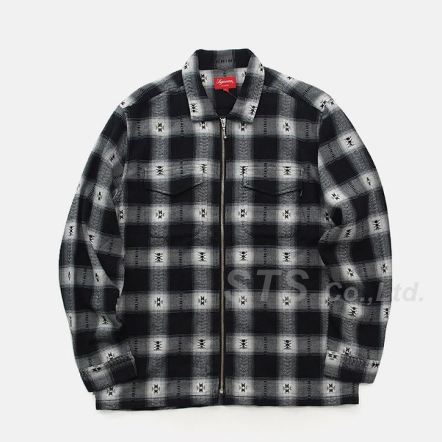 Supreme - Plaid Flannel Zip Up Shirt