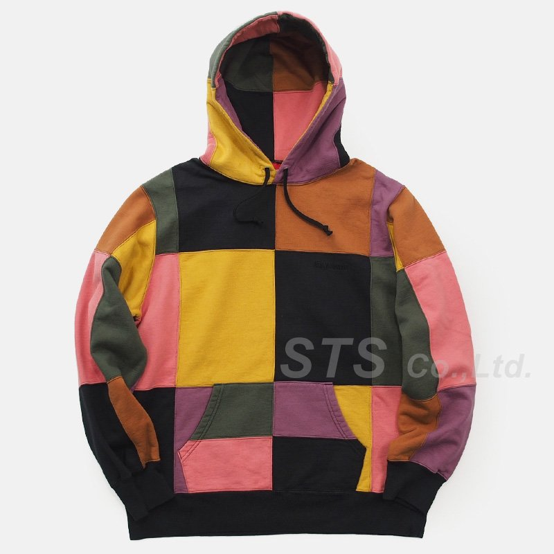 Supreme - Patchwork Hooded Sweatshirt