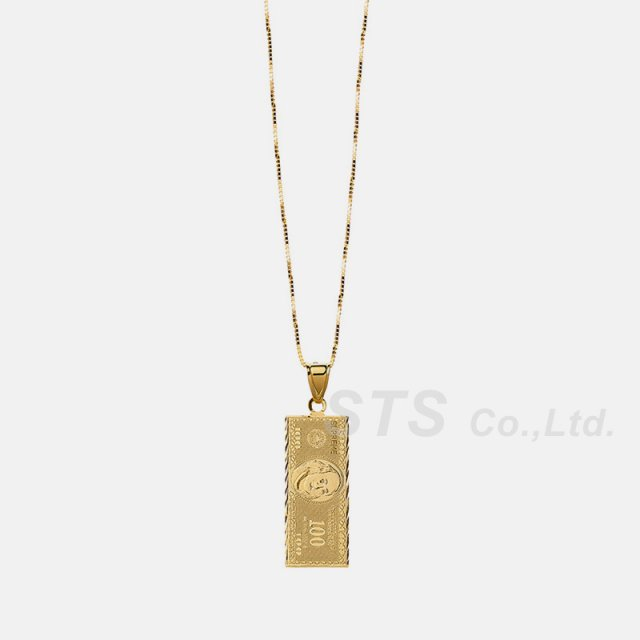 Supreme - 100 Dollar  Bill Gold Pendant