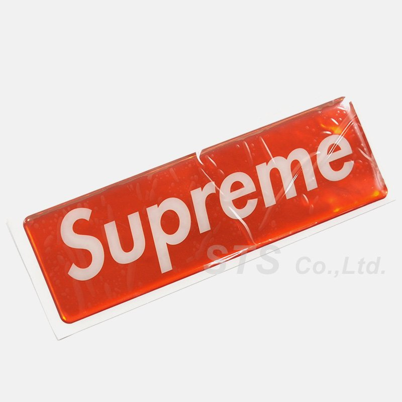 Supreme - Raised Plastic Box Logo Sticker