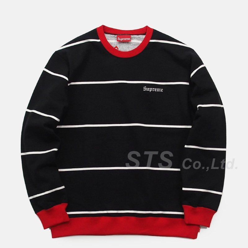 Supreme - Striped Crewneck